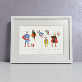 'Super You' Personalised Super Hero Family Print - Personalised