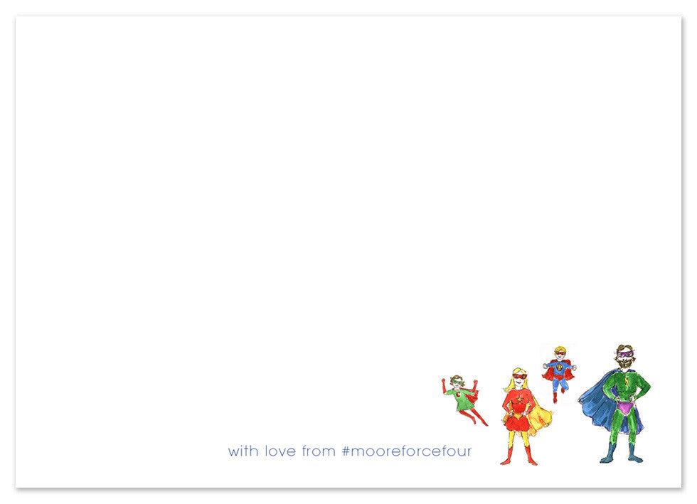 Super Hero Family - Personalised Personalised Stationery