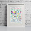 Likes Multi Coloured - Personalised Print