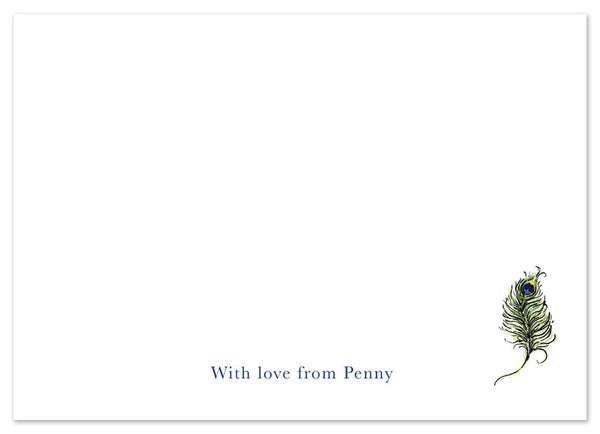Peacock - Personalised Personalised Stationery