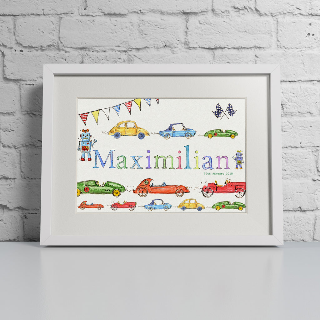 Cars & Robots - Personalised Print