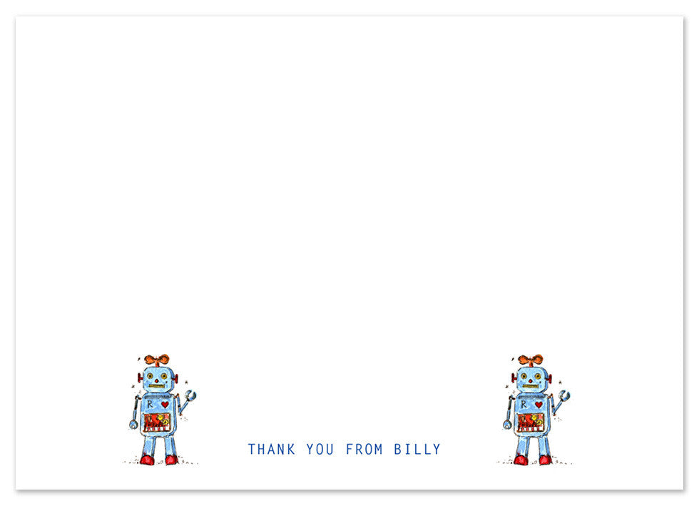 Robots - Personalised Personalised Stationery
