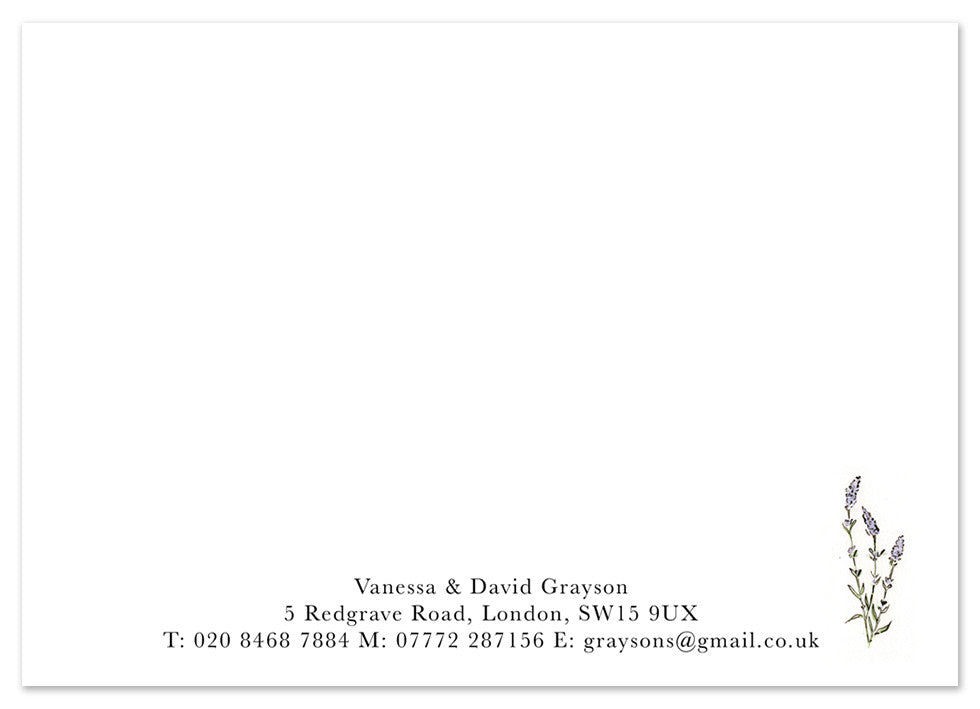 Lavender II - Personalised Personalised Stationery