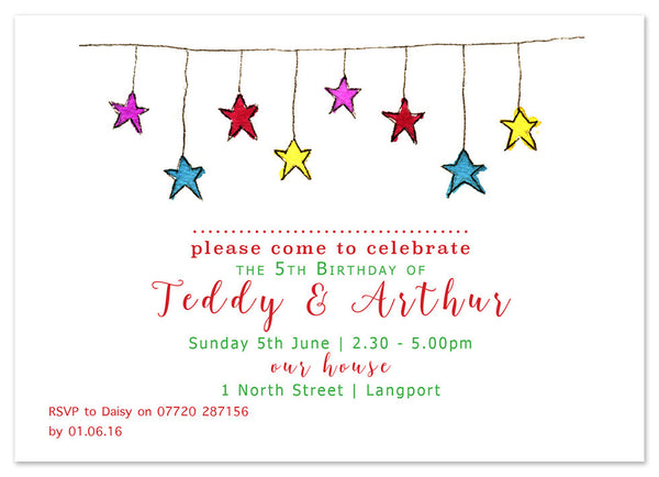 Stars - Personalised Personalised Stationery