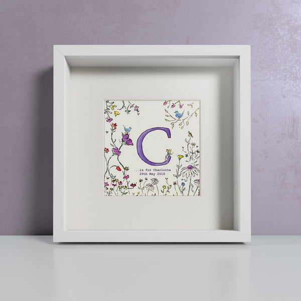 Vintage flowers personalised print by Daisy Foster
