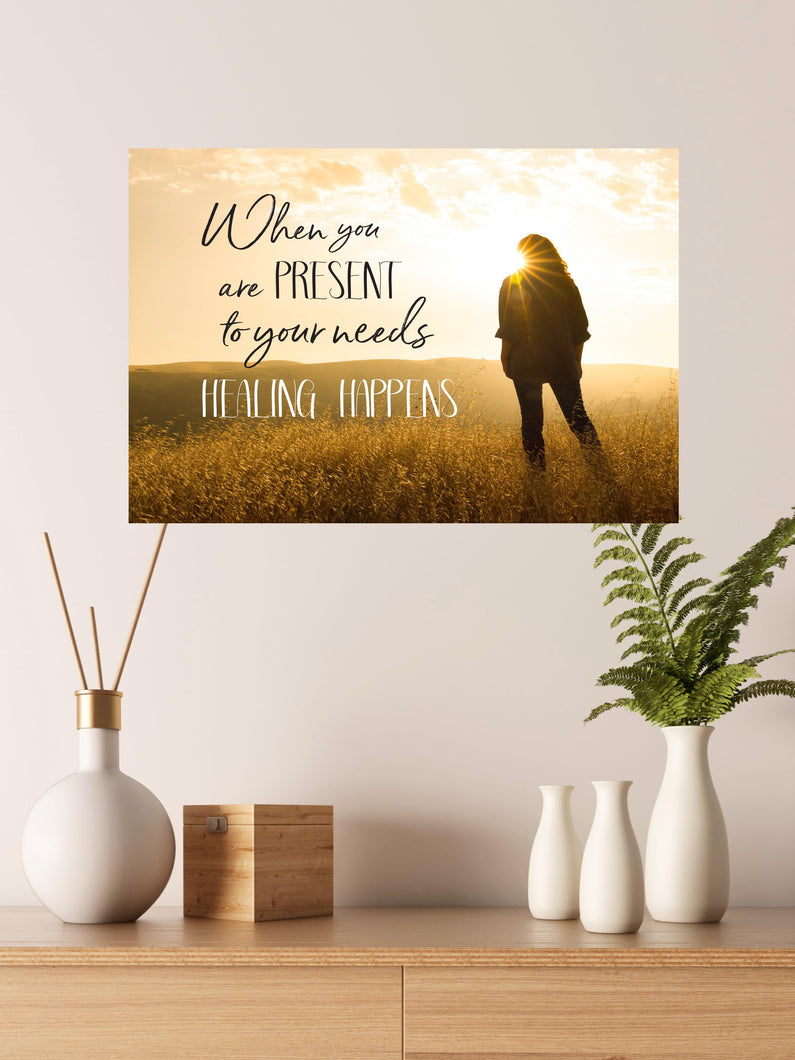 Canvas Art: Be Present 18' X 13.5