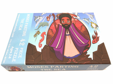 Moses Parting the Sea 42 Piece Puzzle
