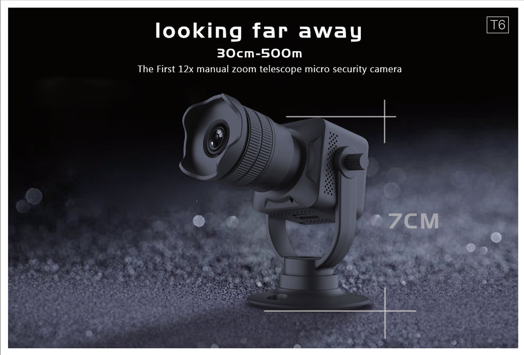 The first 12X manual Zoom telescope surveillance camera T6 Coming Soon