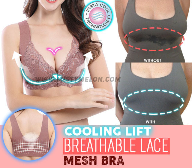 Cooling Lift Front Closure Lace Mesh Bra