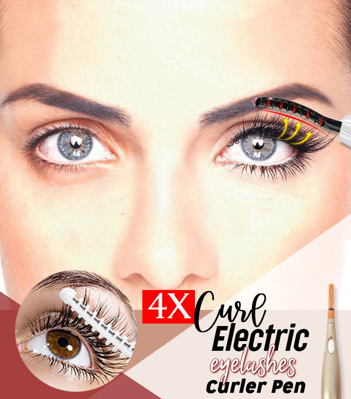 4X Curl Electric Eyelashes Curler Pen