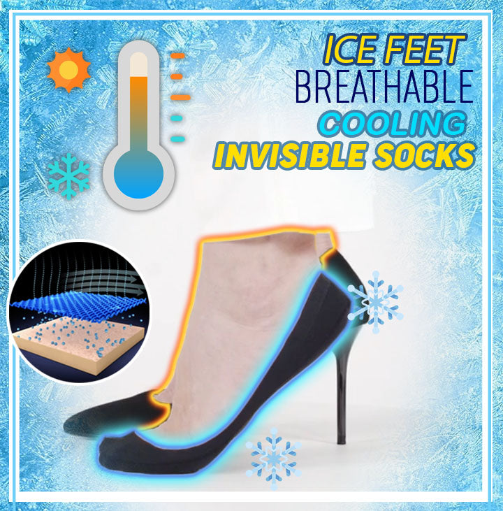 Ice Feet Breathable Cooling Invisible Socks (2 pair Set)