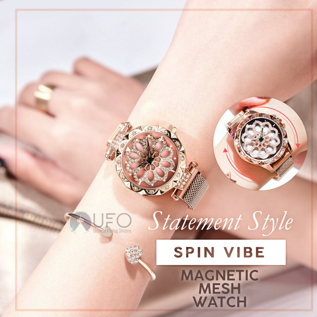 Spin Vibe Magnetic Mesh Watch