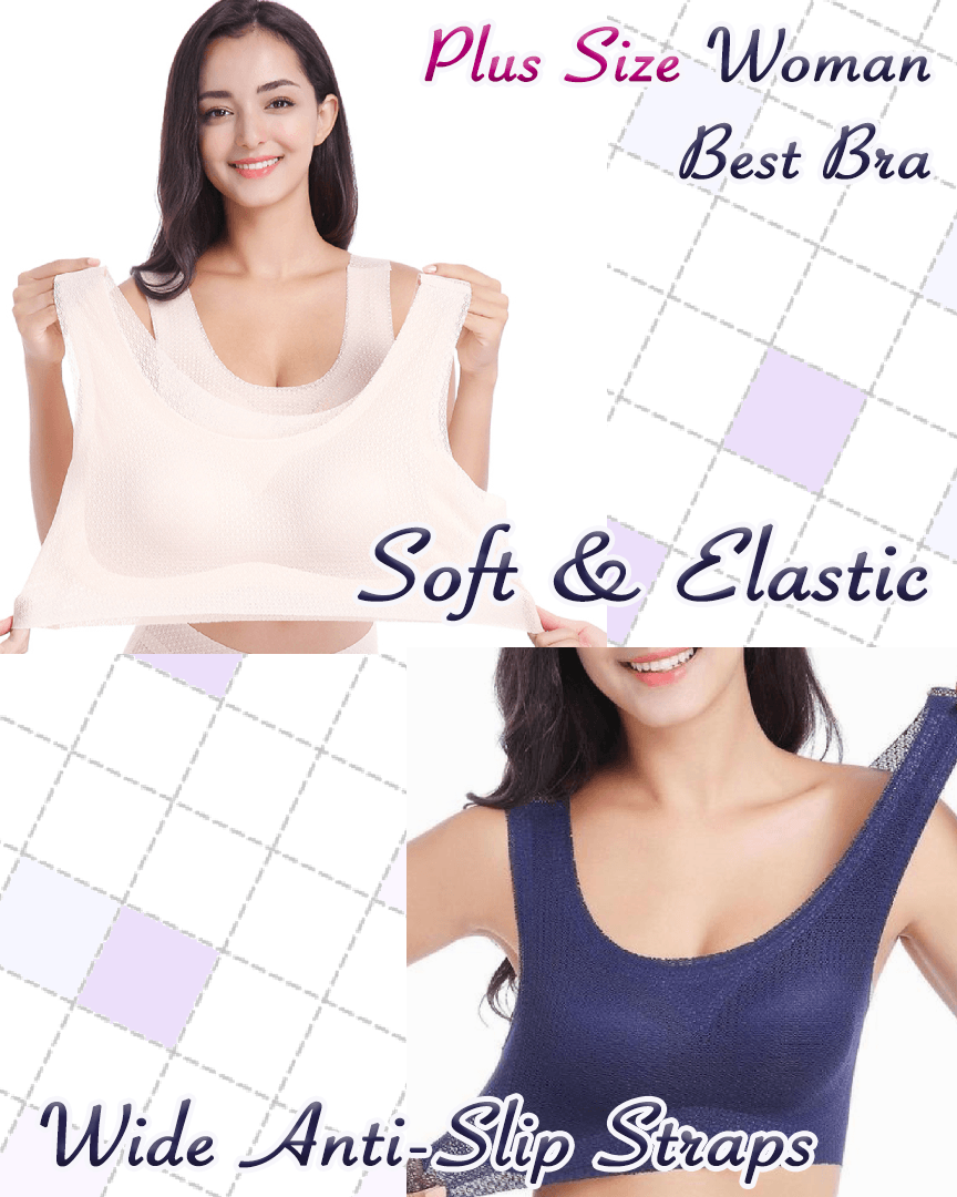 Plus Size Breathable Sports Bra