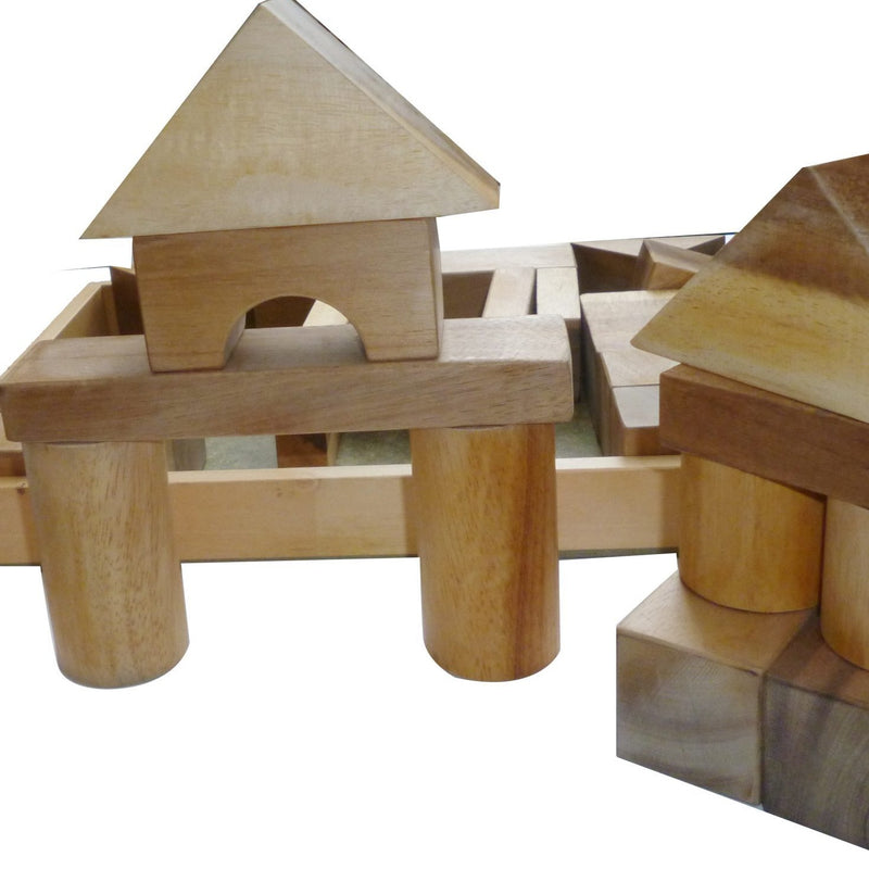 NEW Natural Wooden Block Set