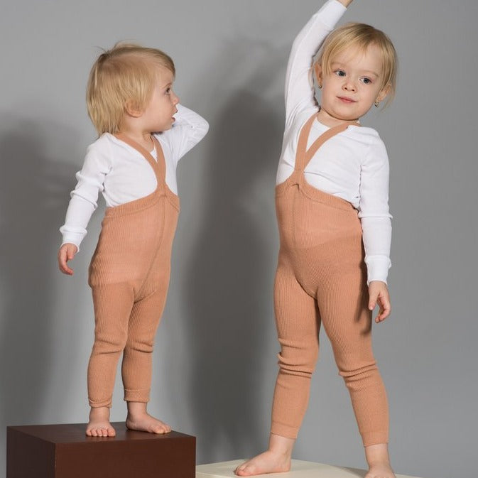 Silly Silas Footless Tights- Light Brown