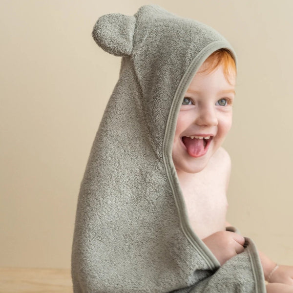 Hooded Towel- Sage