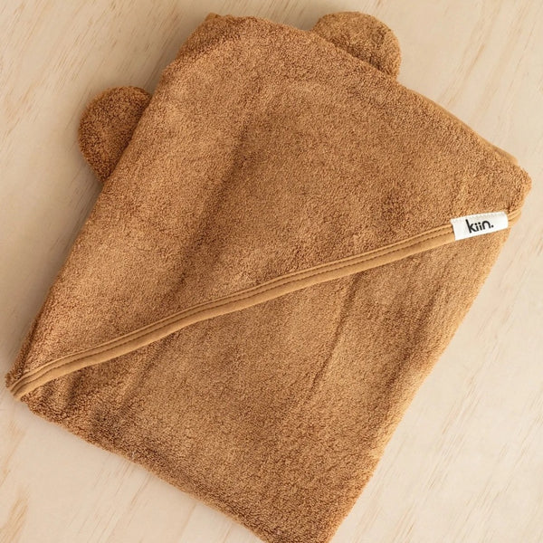Hooded Towel- Caramel