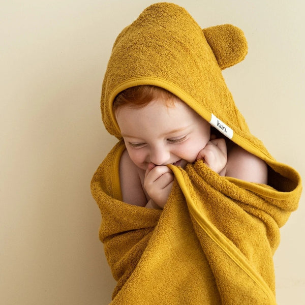 Hooded Towel- Mustard