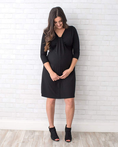 Tupelo Honey Love Knot Maternity Dress XS / BLACK Dress