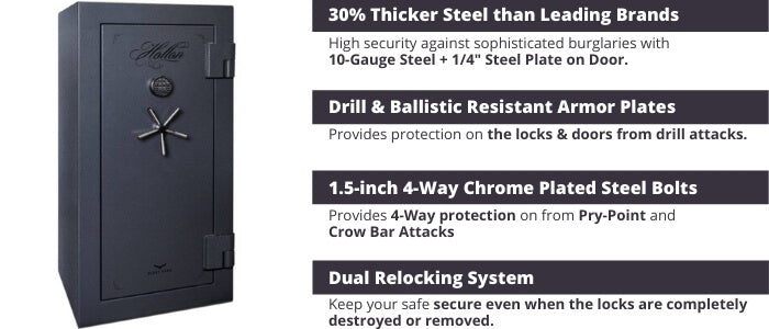 Hollon Black Hawk Gun Safe Security Features