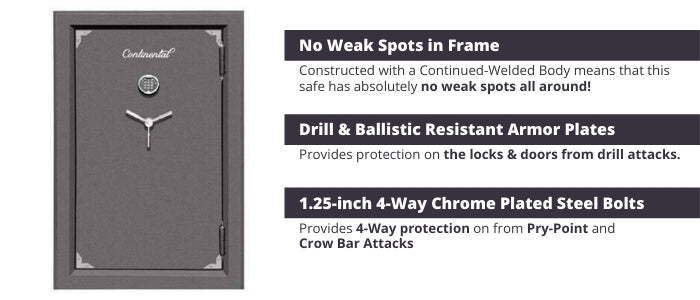 Hollon Continental Gun Safe Security Features