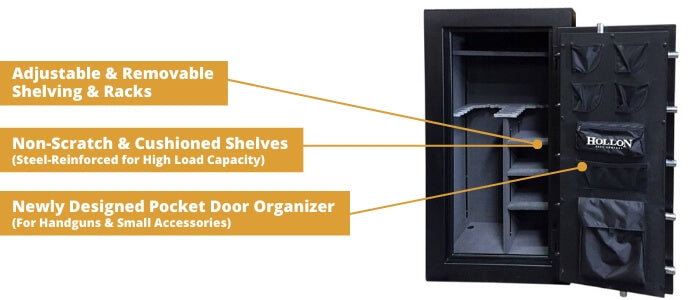 Hollon Crescent Shield Gun Safe Storage Features