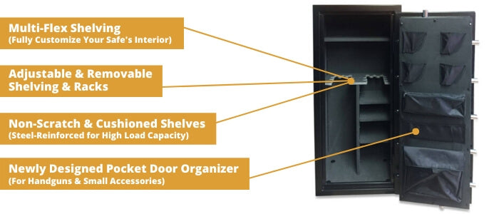 Hollon Hunter Series Gun Safe Storage Features