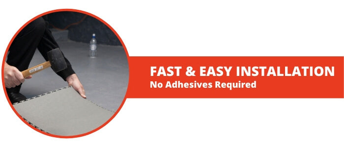 Locktile - Fast & Easy Installation (No Adhesives Required)