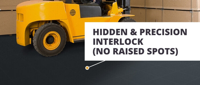 Perfection Floor Industrial  Tiles - Hidden & Precision Interlocking Tiles for No Raised Spots