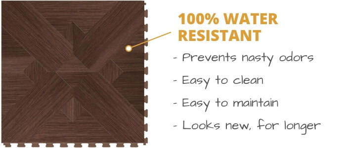 Perfection Floor Tiles is 100% Water Resistant