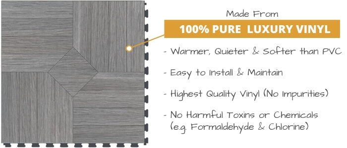 Perfection Floor Tiles Made from 100% Pure Virgin Vinyl