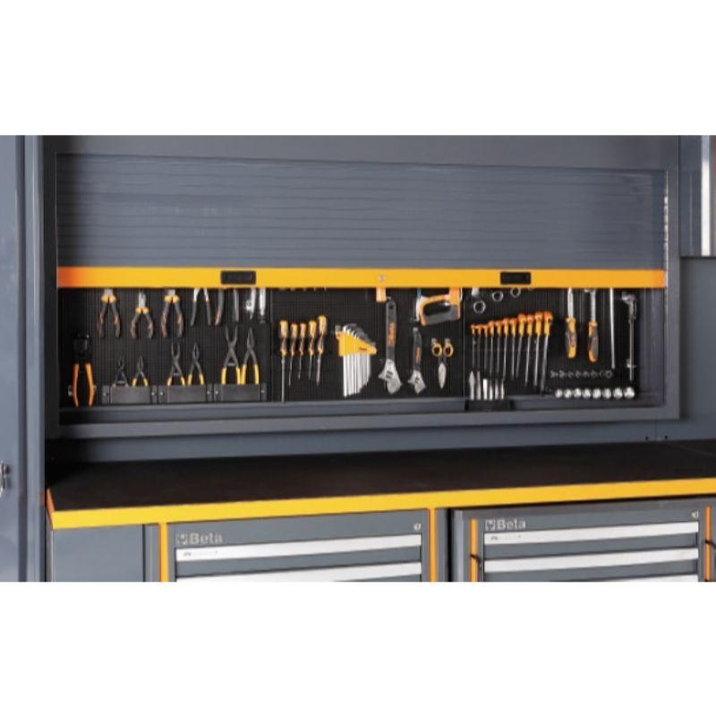 Beta Tools C55 Comprehensive Workshop Equipment Combination Tool Wall Panel with Shutters