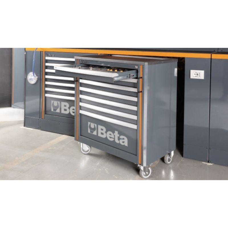 Beta Tools C55 Comprehensive Workshop Equipment Combination One of Cabinet Modules Sliding Out