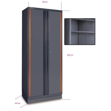 Beta Tools C55A2 Sheet Metal Tool Cabinet With Two Cabinets Doors