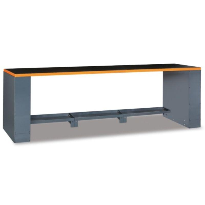 Beta Tools C55B Workbench 2.8 Meter Table in Orange Front View