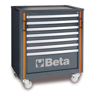Beta Tools C55C7 Mobile Roller Cab with 7 Drawers View from the Front