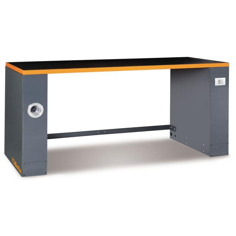 Beta Tools C55PRO B/2,8 (2.8 Meter) Sheet Metal Workbench With Sockets View from the Front