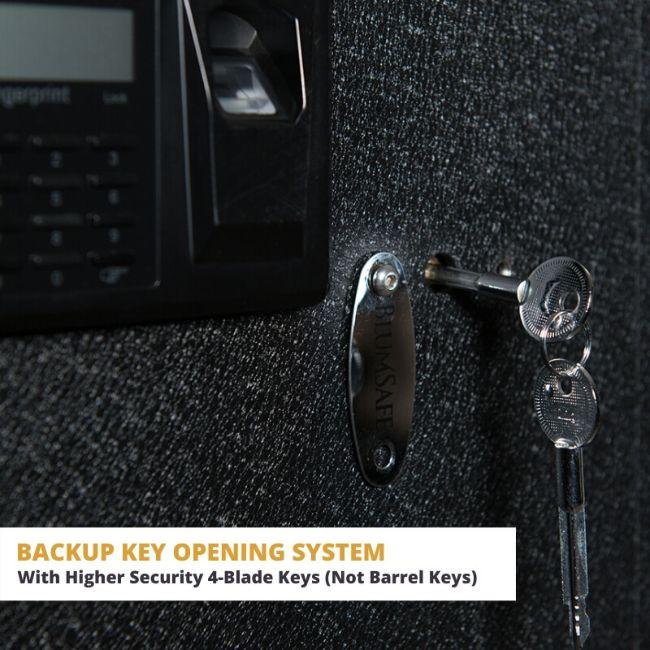 Blum Safe (301504) Watch Safe Locks comes withna Backup Opening System with a Higher Security 4-Blade Keys