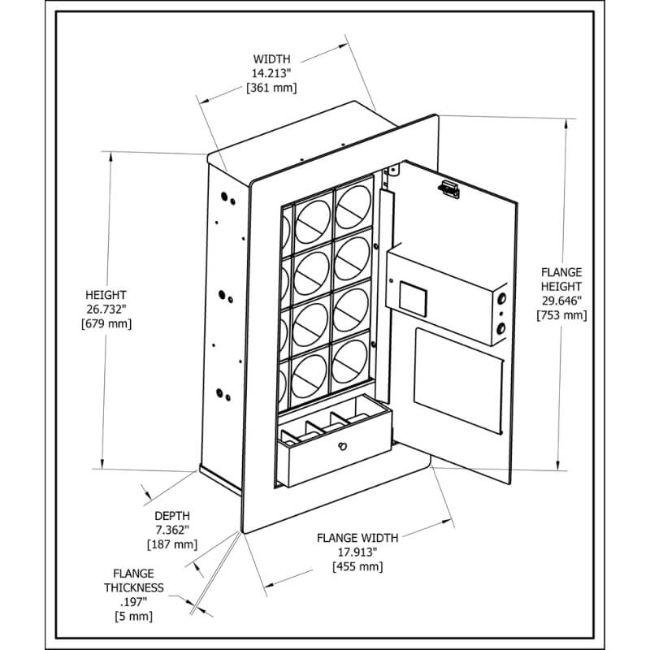 Blum Safe (301504) Watch Safe Overview of Dimensions