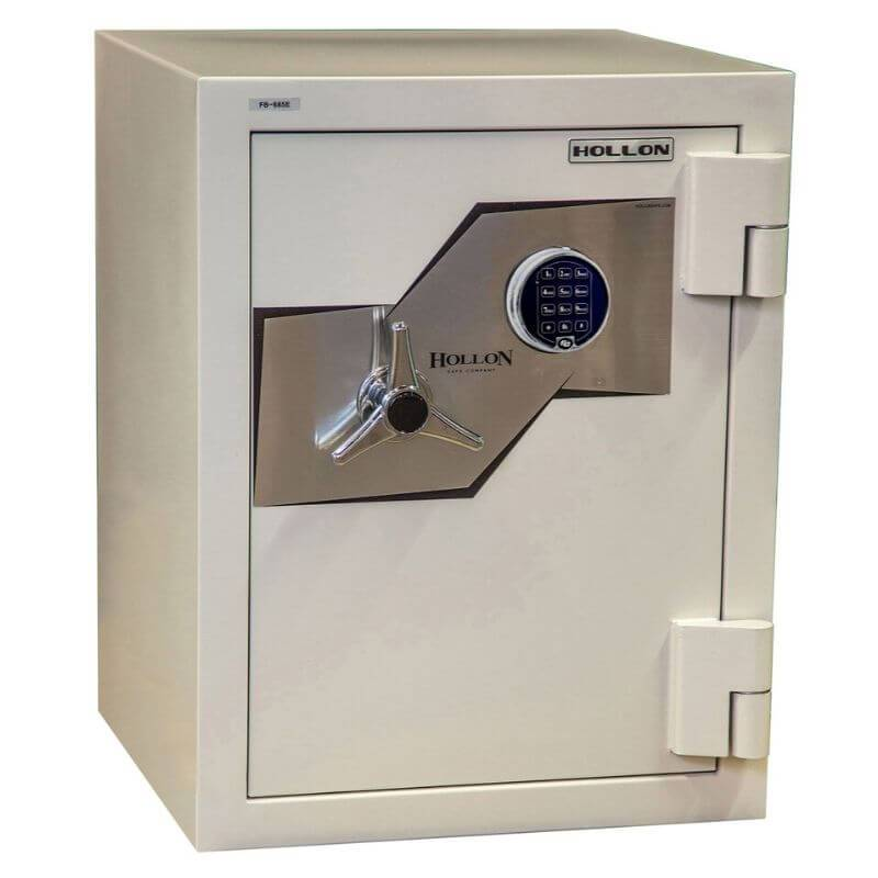 Hollon 685C-JD Jewelry Safe with Doors Closed Showing Electronic Lock