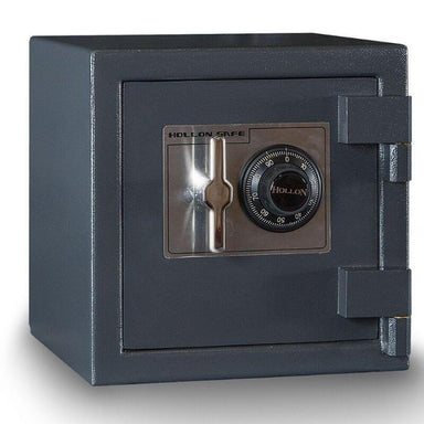 Hollon B1414C B-Rated Cash Box with Dial Locks. Doors Closed & Viewed From Front Left.