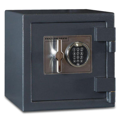 Hollon B1414E B-Rated Cash Box with Electronic Locks. Doors Closed & Viewed From Front Left.