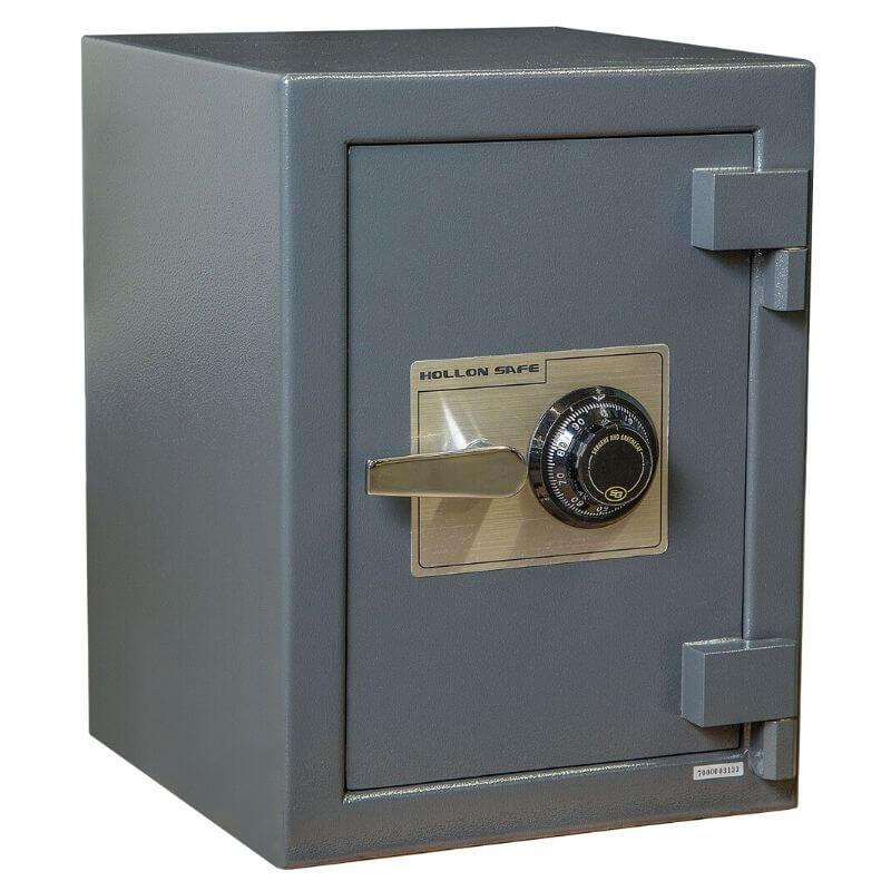 Hollon B2015C B-Rated Cash Box with Dial Locks. Doors Closed & Viewed From Front Left.