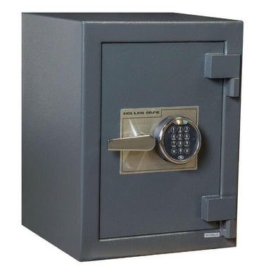 Hollon B2015E B-Rated Cash Box with Electronic Locks. Doors Closed & Viewed From Front Left.