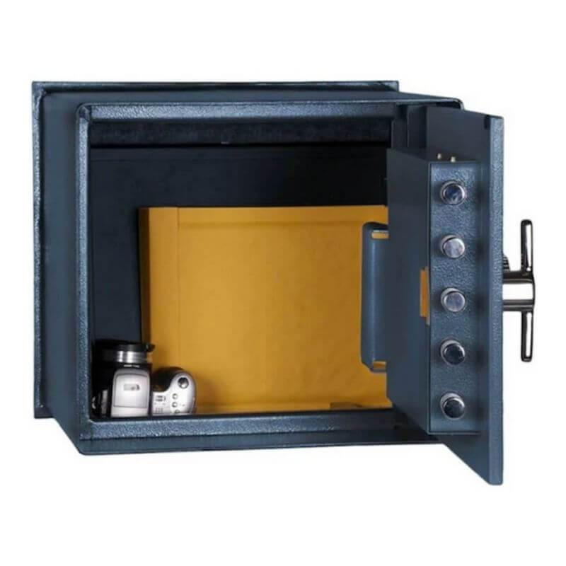 Hollon B-2500 Floor Safe Viewed with Door Open Showing Interior of the Safe