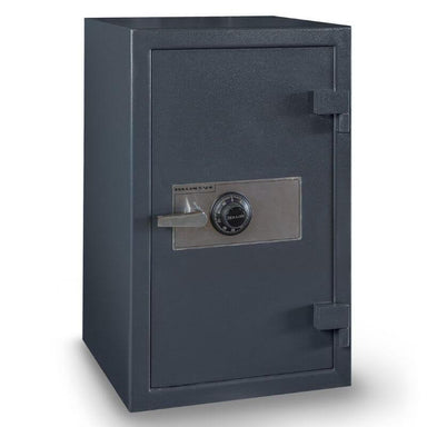 Hollon B3220CILK B-Rated Cash Box with Dial Locks. Doors Closed & Viewed From Front Left.