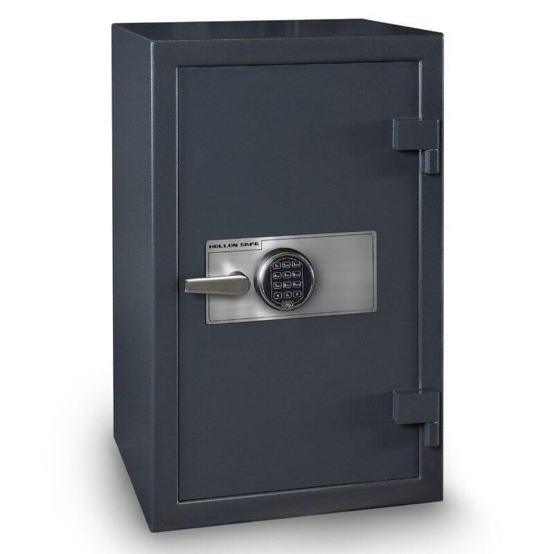 Hollon B3220EILK B-Rated Cash Box with Electronic Locks. Doors Closed & Viewed From Front Left.