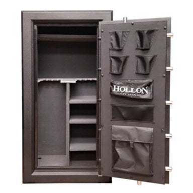 Hollon C-24 Continental Gun Safe With Door Opened Showing Interior Shelving & Door Organizer and Viewed Directly From the Front