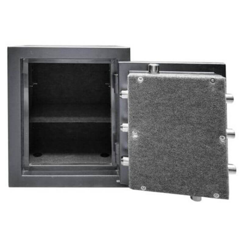 Hollon C-6 Continental Gun Safe With Door Opened Shpwing Interior Shelving & Door Organizer and Viewed Directly From the Front