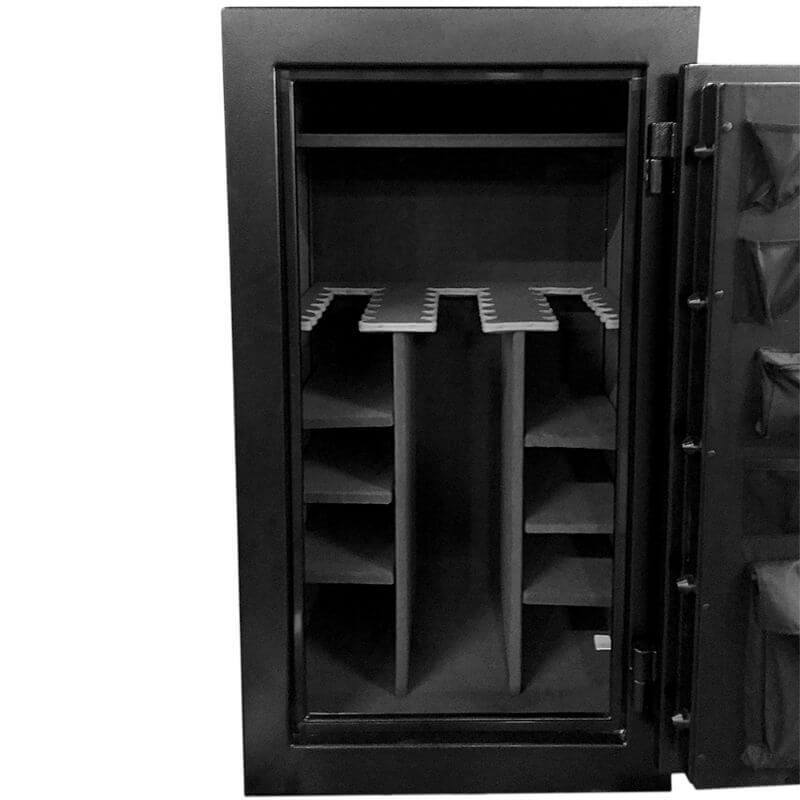 Hollon CS-36E Crescent Shield Gun Safe Closeup of Pocket Door Organizer